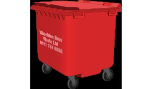 1100L wheelie bin