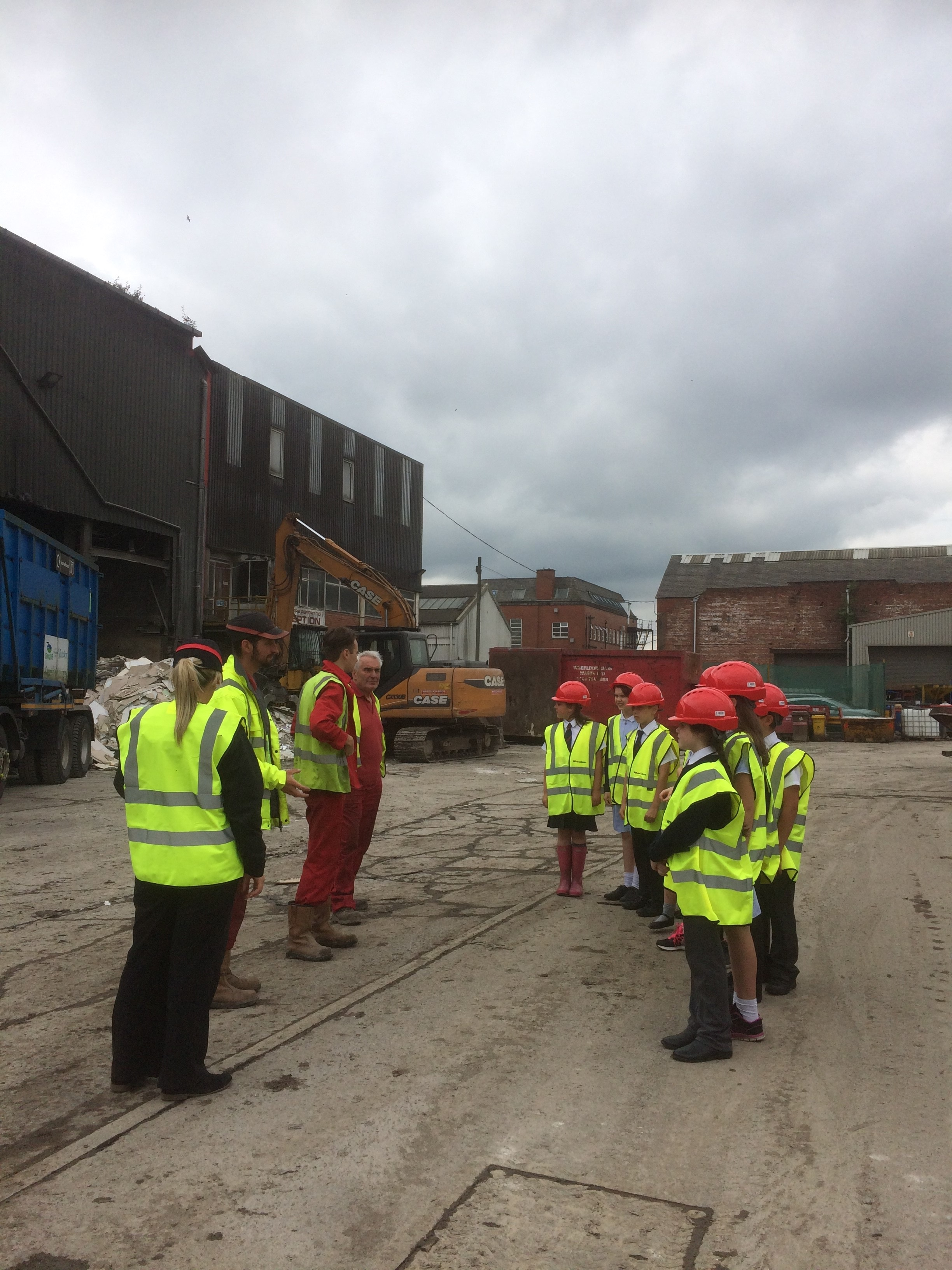 wheeldon brothers showing heap bridge primary school around the recycling centre