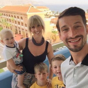 James Wheeldon and family on holiday 2016