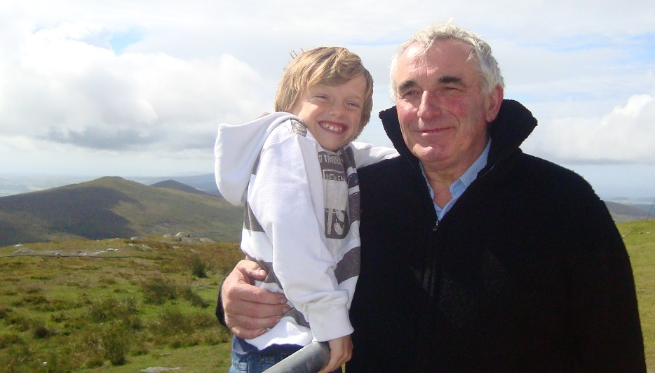 John Wheeldon in the Isle of Man with his grandson, Charles Ward