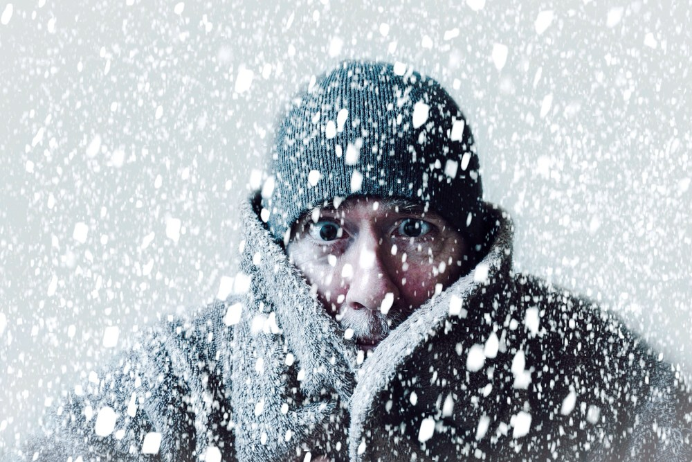 Man-in-snowstorm